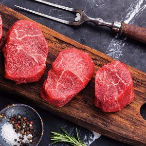 Bifteck filet mignon de boeuf