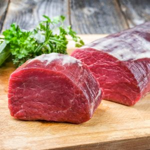Bifteck filet mignon entier de boeuf