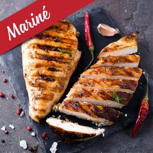 Poitrine marinée (florentine) de poulet