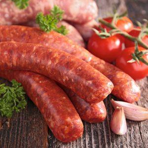 Saucisses tomates basilic (grosses) de porc