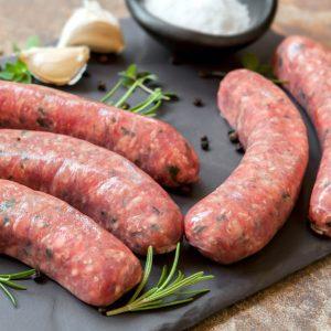 Saucisses vin blanc et ciboulette (grosses) de porc