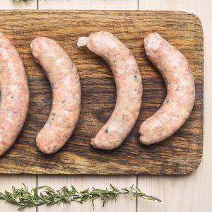 Saucisses poireaux (grosses) de porc