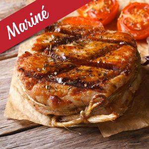 Tournedos/Bacon mariné (orange, canneberge) de dinde