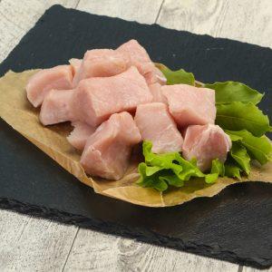 Cubes à brochettes de porc