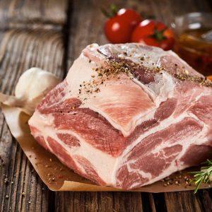 Rôti d'épaule (os/couenne) de porc